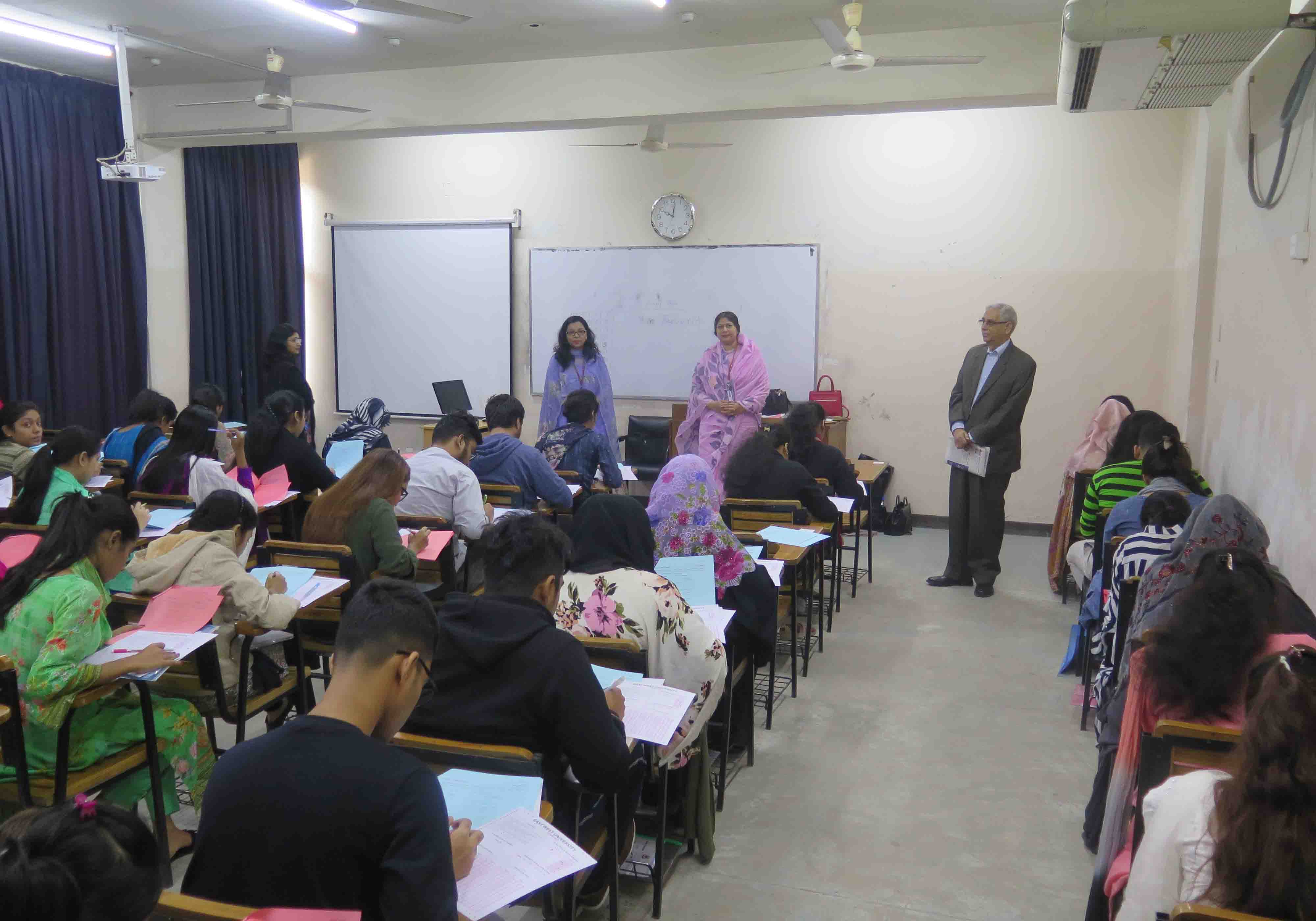 Admission Test for Spring Semester 2020 held at EW...