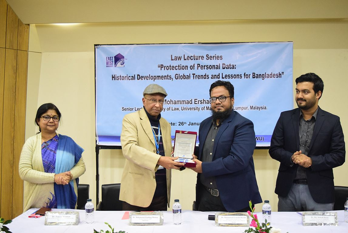 Lecture on Protection of Personal Data held on East West University