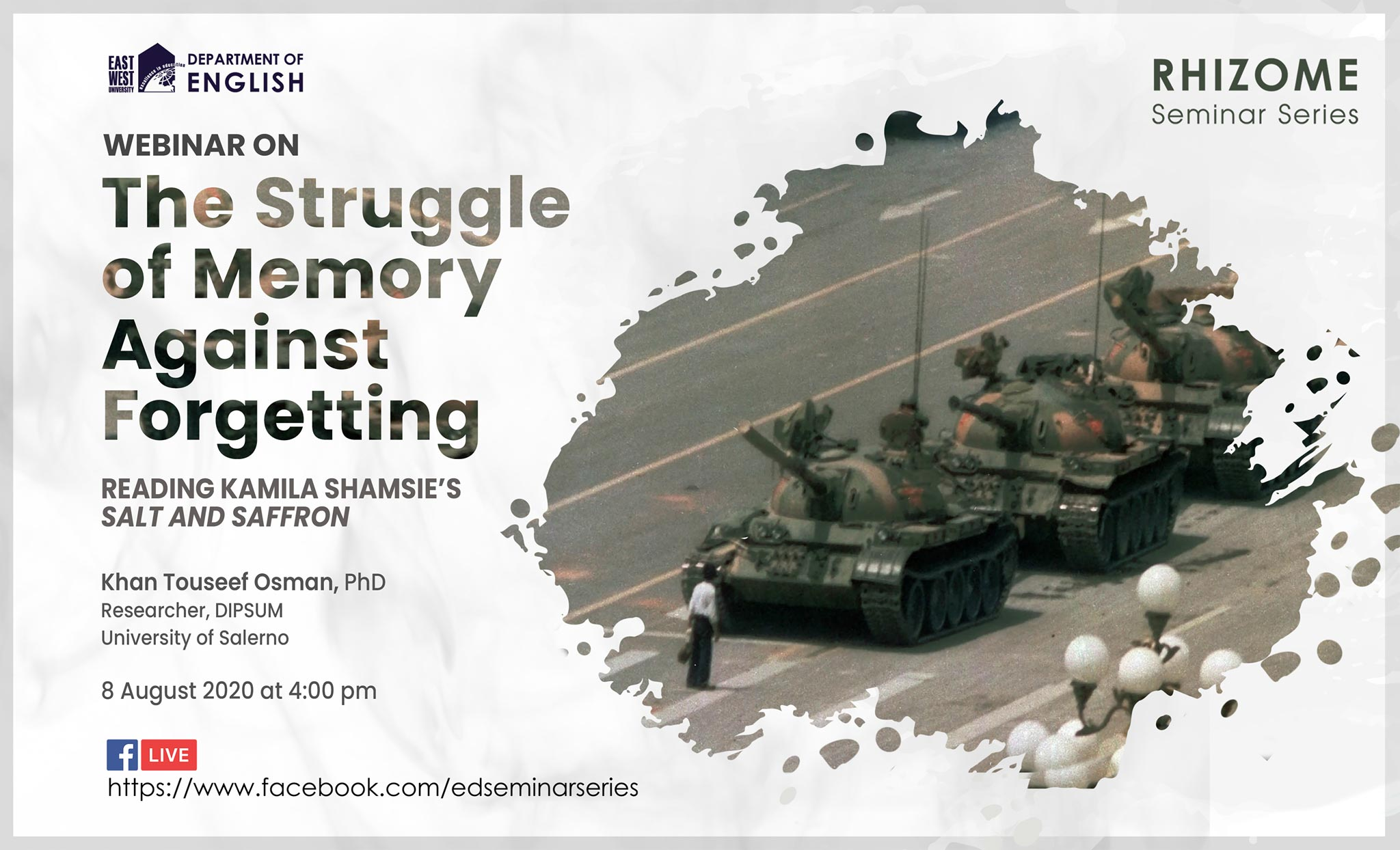 "Webinar on ""The Struggle of Memory against Forgett..."