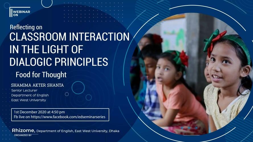"Webinar on ""Reflecting on Classroom Interaction in..."